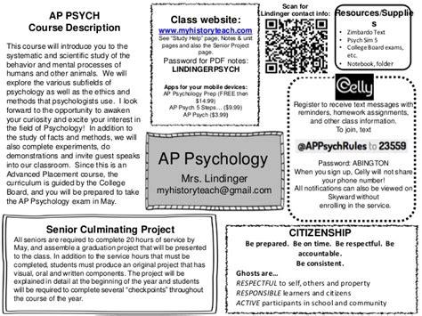 Ap Psychology ap psych syllabus