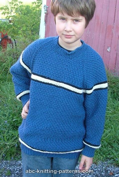 knitting pattern sweater boy abc knitting patterns boys top down raglan sweater with