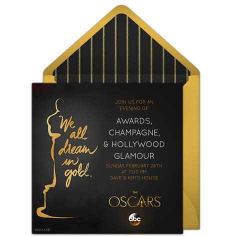 oscar invitation template free oscars invitations for the 2016 academy awards