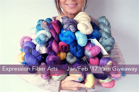 Free Yarn Giveaway 2017 - expression fiber arts a positive twist on yarn january february 2017