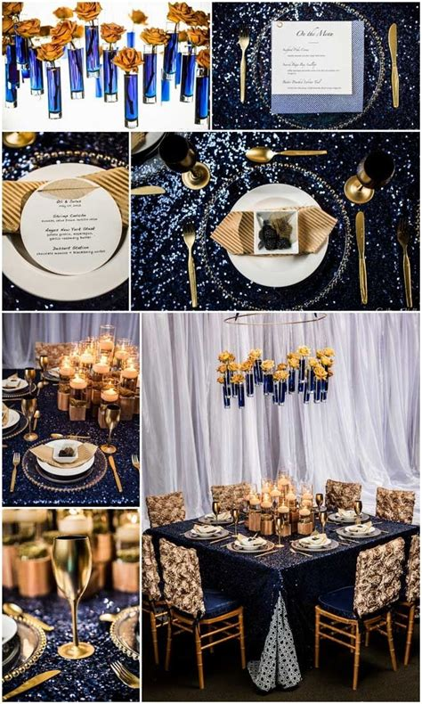 mariage or beautiful planche d inspiration navy