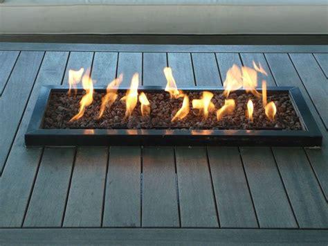 terrassenfeuer gas selber bauen tischkamin mit schwarzer rand 39x84 cm terras co