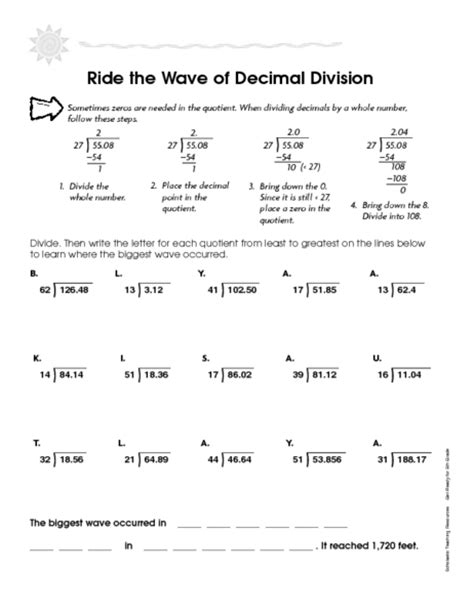 printable worksheets on division of decimals worksheet decimal division worksheets hunterhq free