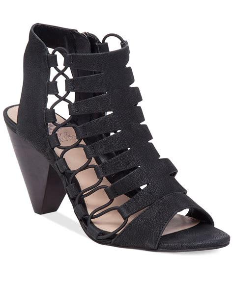 macys dress sandals vince camuto eliaz gladiator dress sandals in black lyst