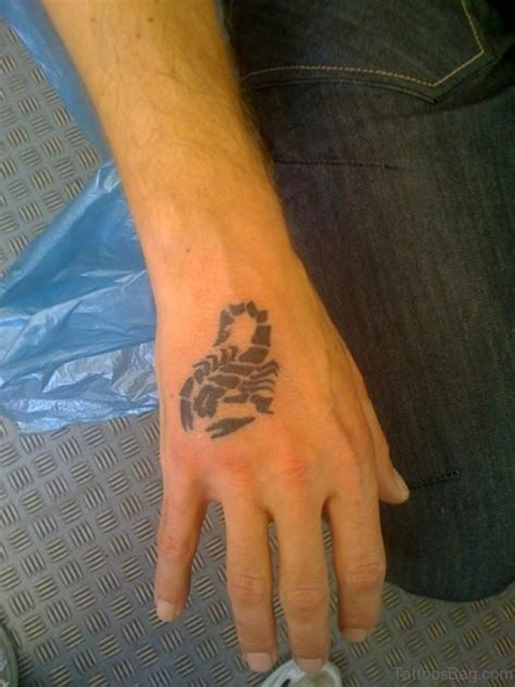 scorpion hand tattoo 30 fancy scorpion tattoos for