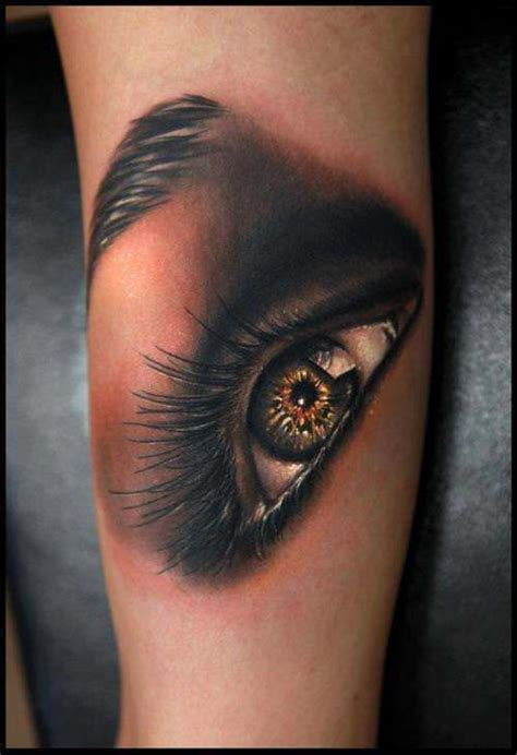 tattoo of an eye a stunning photo realistic of an eye by rich pineda