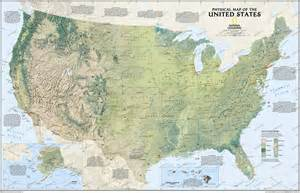 usa map with geography geography physical map of the united states of america
