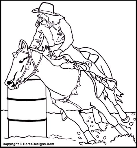barrel racing coloring page things we find interesting