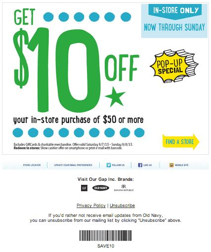 old navy coupons ca old navy coupons canada 10 sur votre achat de 50 25