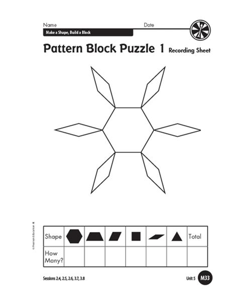 pattern block puzzles shapes are everywhere collection lesson planet