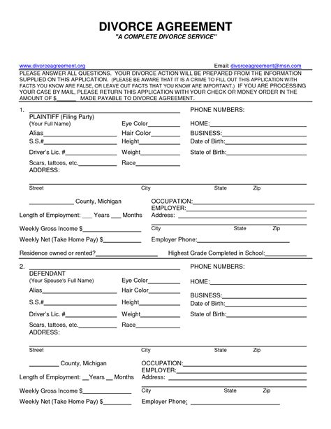Divorce Records Missouri Free Printable Divorce Papers Printable Paper