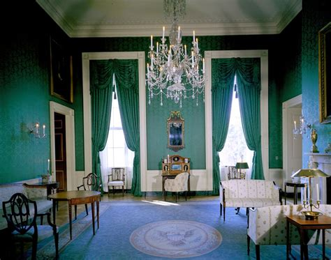 Rooms Of The White House by Kn C19306 Green Room White House F Kennedy