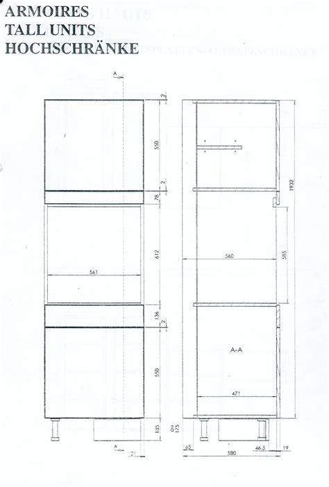 colonne de encastrable fabriquer meuble pour four encastrable