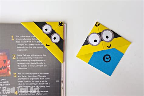 Make Paper Bookmarks - minion crafts corner bookmarks ted s