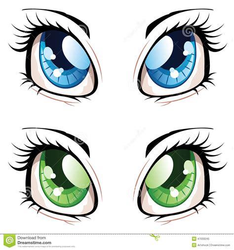 imagenes de ojitos kawaii ojos del estilo del animado ilustraci 243 n del vector