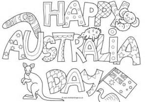 activity village colouring pages holidays australia day