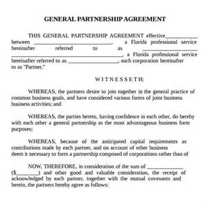 basic partnership agreement template free partnership agreement sle real estate forms