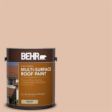 behr 1 gal rp 21 sandcastle flat multi surface roof paint 06501 the home depot