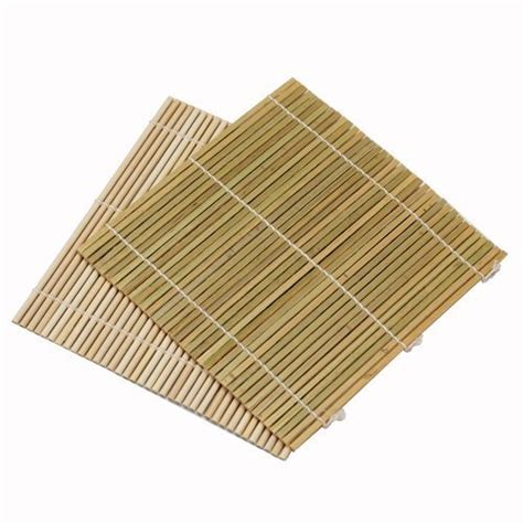 set of 6 bamboo sushi rolling mats 9 1 2 inches square new
