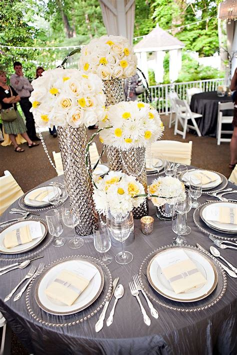 yellow and grey wedding theme wedding flair