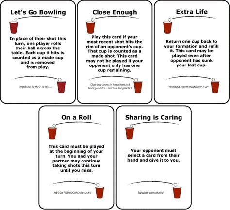 printable card game rules liven up beer pong with pong tactics