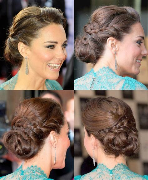 kate middleton updo with braid at olympic concert hair and make up cabelos e maquiagem capelli