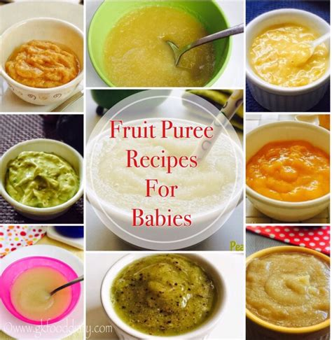 fruit puree fruit puree recipes for babies baby food recipes