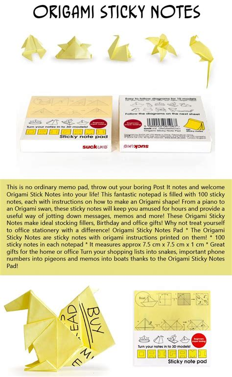 Origami Sticky Notes - top 10 stuffers