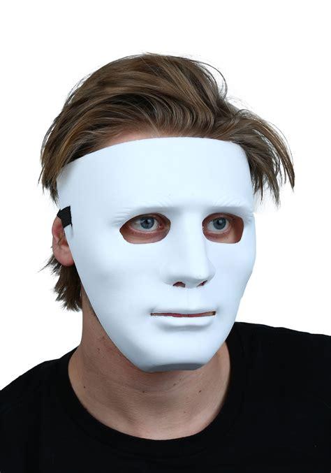 Masker Go deluxe white blank mask