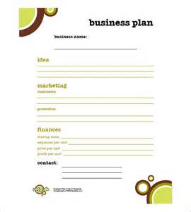 Business Plan Free Templates Simple Business Plan Template 8 Free Sample Example