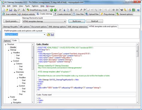 generate html template a1 sitemap generator screenshot sitemap generator html