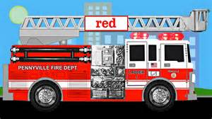 what color is a truck firetruck colors learning color trucks for
