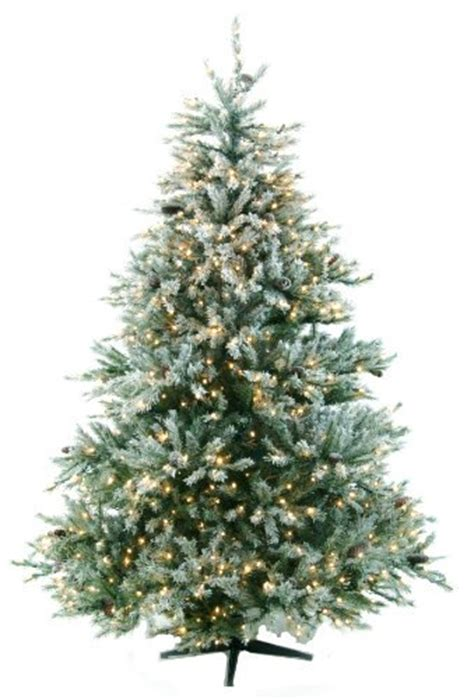 new castle artificial fir tree 7 5 glacial fir artificial flocked prelit trees flickr