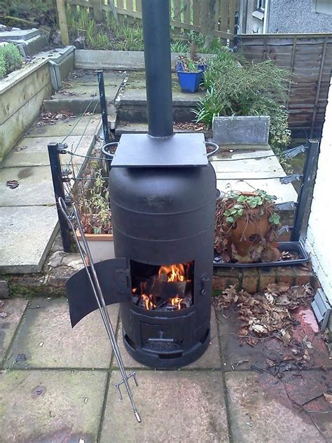 chiminea philippe gas bottle bbq wood burner with plate oefeningen