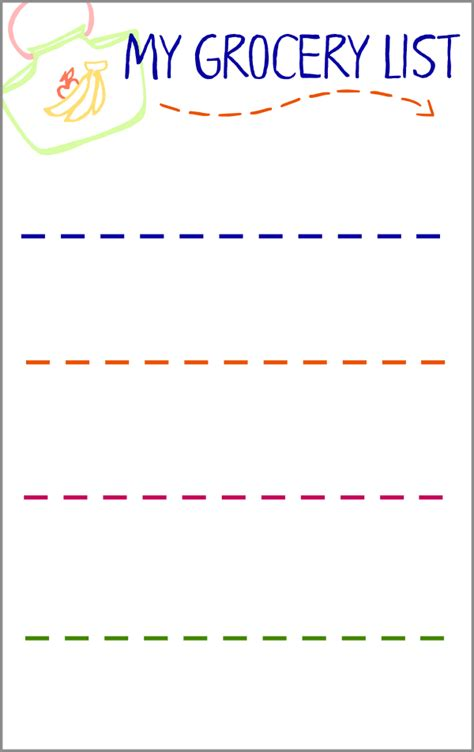 preschool shopping list printable grocery list activity for preschoolers with free printable