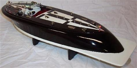 rc sw boat electric speedboat wood electric models tmy kmk ito collectible