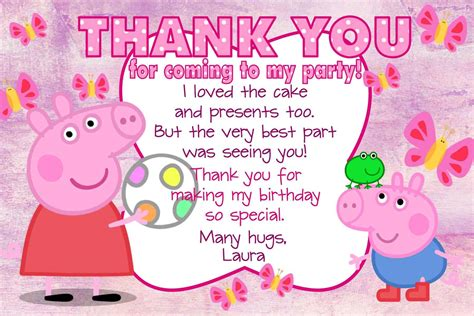 Peppa Pig Thank You Card Template by Peppa Pig Thank You Card Template 28 Images Peppa Pig