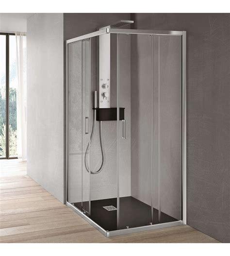 box doccia scorrevole box doccia ad angolo scorrevole in cristallo 6 mm hafro