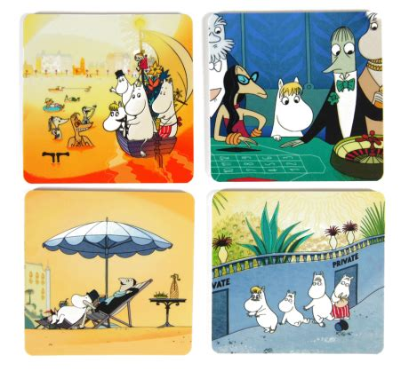 Termos Moomin By Treein Original coaster 4 pack moomin on the riviera