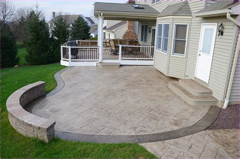 sted concrete backyard ideas sted concrete patios in westlake ohio home design ideas