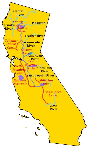 california map central valley central valley project trager water report