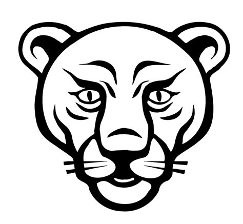 coloring page lion face free coloring pages of lion face template