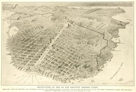 san francisco map before 1906 leslie s weekly