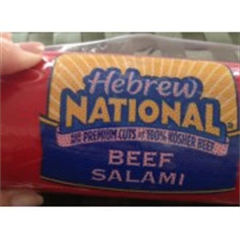 hebrew national calories hebrew national beef salami calories nutrition analysis more fooducate
