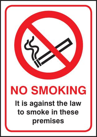 no smoking signs the law no smoking it is against the law sign ssp print factory