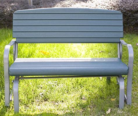 Garden Rocking Bench 48 Inch Outdoor Glider Bench Rocking Outdoor Furniture Garden Bench Loveseat Ebay