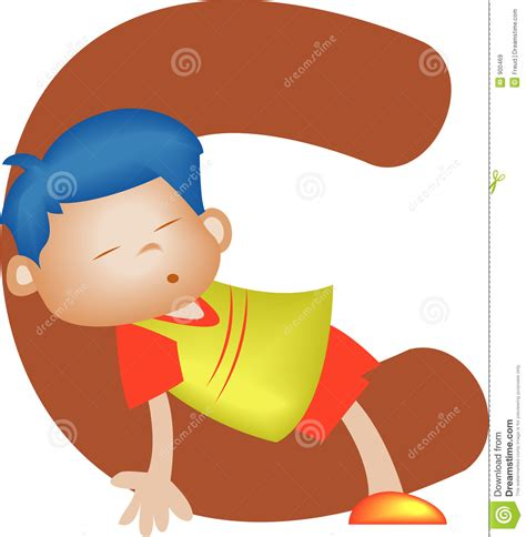 alphabet letter c boy stock illustration illustration