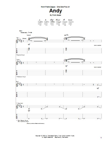 frank zappa sofa lyrics andy by frank zappa guitar tab guitar instructor