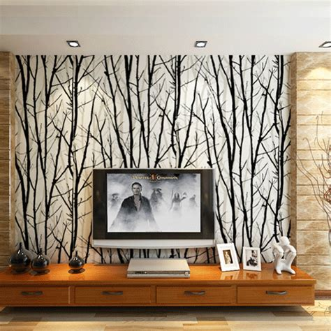 wall murals for living room pvc 3d wall murals wallpaper woods tree pattern striped