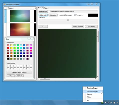wallpaper rotator windows 7 change windows 7 aero colors with rotating wallpapers